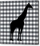 Giraffe Silhouette Acrylic Print
