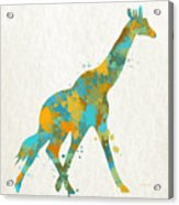 Giraffe Watercolor Art Acrylic Print