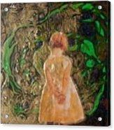 Girl And A Beanstalk  Acrylic Print