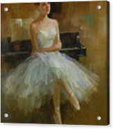 Girl And Piano Acrylic Print