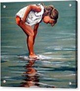 Girl At Shore  Acrylic Print
