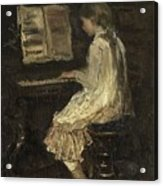 Girl At The Piano Acrylic Print