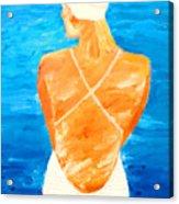 Girl At The Pool Acrylic Print
