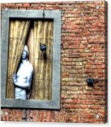 Girl At The Window Acrylic Print