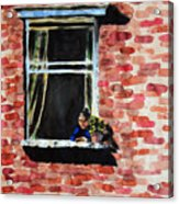 Girl At Window Acrylic Print