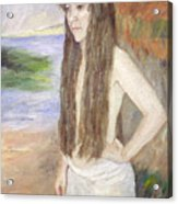 Girl By The Shore Acrylic Print