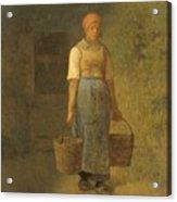 Girl Carrying Water Acrylic Print
