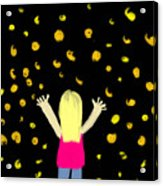 Girl Dancing With Fireflies Acrylic Print