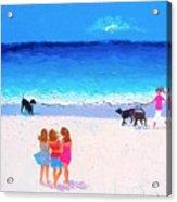 Girl Friends - Beach Painting Acrylic Print
