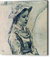 Girl Hell 1882 Ilya Repin Acrylic Print