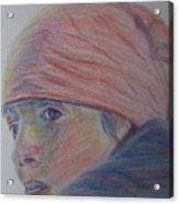 Girl In A Bandana Acrylic Print