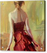 Girl In A Copper Dress I Acrylic Print