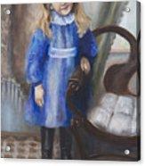 Girl In Blue Acrylic Print