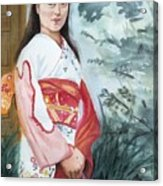 Girl In Kimono Acrylic Print