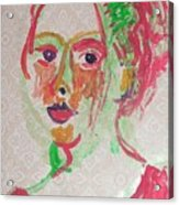 Girl In Red  Acrylic Print