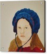 Girl In The Blue Bonnet Acrylic Print