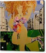 Girl In The City Acrylic Print