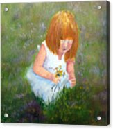 Girl In The Meadow Acrylic Print