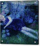 Girl In The Pool 12 Acrylic Print