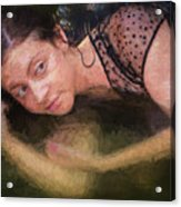 Girl In The Pool 13 Acrylic Print