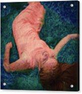 Girl In The Pool 14 Acrylic Print