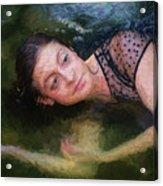 Girl In The Pool 15 Acrylic Print