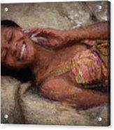 Girl In The Pool 18 Acrylic Print