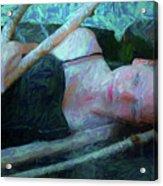 Girl In The Pool 23 Acrylic Print