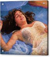 Girl In The Pool 5 Acrylic Print