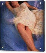Girl In The Pool 6 Acrylic Print
