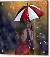 Girl In The Rain  Acrylic Print
