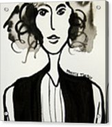 Girl In Vest Acrylic Print