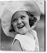 Girl In Wide Brimmed Hat, C.1930s Acrylic Print