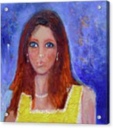 Girl In Yellow Dress Acrylic Print