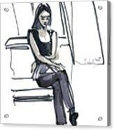 Girl Near The Window Acrylic Print