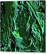 Girl Of Green Acrylic Print