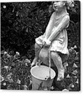 Girl On A Mushroom Acrylic Print