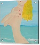 Girl On Beach Acrylic Print