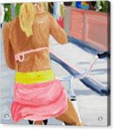 Girl On Bike Acrylic Print