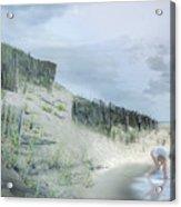 Girl Picking Up Sea Shells Acrylic Print