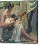 Girl Playing Domra  Acrylic Print