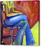 Girl Sitting Acrylic Print