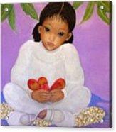 Girl Sitting Under Mango Tree Acrylic Print