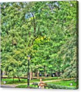Girl Uninterrupted In Central Park Acrylic Print