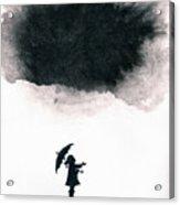 Girl Waiting For Rain Acrylic Print