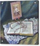 Girl With A Book Acrylic Print
