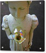 Girl With A Bubble Acrylic Print