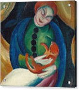 Girl With A Cat II Acrylic Print