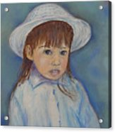 Girl With A Hat Acrylic Print