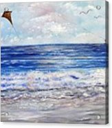 Girl With A Kite Acrylic Print